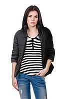 Модная женская куртка весна-осень Casual (черный)