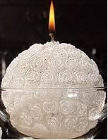 Свеча белая круглая декоративная мерседес 1шт. Уценка