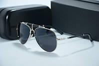 Солнцезащитные очки Balmain черные с серебром