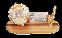 Глобус на деревянной подставке с ручкой