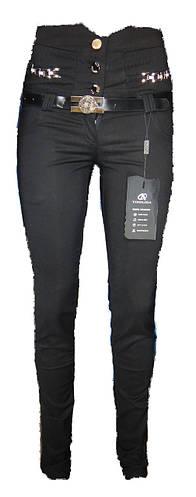 Женские брюки стрейч высокий пояс