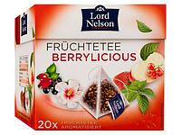 Чай черный фруктовый в пирамиках LORD NELSON Berrylicious