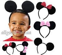 Обруч Микки Маус с ушками с розовым бантиком