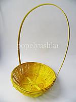 Корзина декоративна кругла жовта