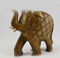 Слон с попоной на спине статуэтка (hand-made)