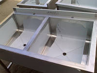 Ванна моечная сварная двухсекционная из нержавеющей стали 1200*600*850