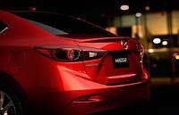 Спойлер на багажник Mazda 3 седан 2014-2016 новый