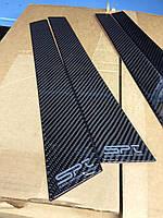 Карбон 100% Carbon накладки на дверные стойки Subaru Impreza WRX STI 2008-14 новые оригинальные