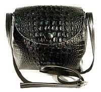 Кожаная женская сумочка Voee Vodd 60874-1 черная на плечо