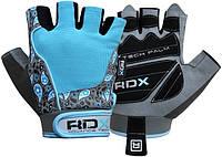 Перчатки для спортзала RDX BLUE женские
