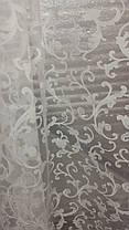 Тюль органза Завиток белый, 3 метра, фото 2
