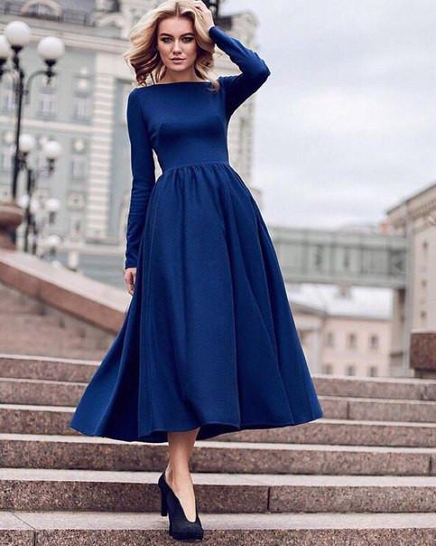 платья ниже колена фото
