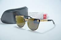 Солнцезащитные очки Alexander McQueen золотые, фото 1