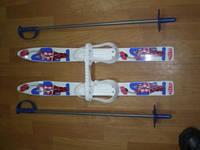 Набор лыжный детский 70 см. (лыжи пластиковые + палки алюминиевые)