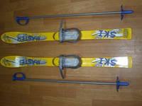 Набор лыжный детский 90 см. (лыжи пластиковые + палки алюминиевые)