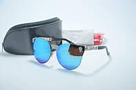 Солнцезащитные очки Alexander McQueen с голубыми линзами, фото 1