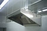 Кухонная вытяжка с жироулавливающими фильтрами из нержавеющей стали для ресторана/кафе, фото 2