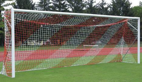 Сетка футбольная капроновая для футбольных ворот #1 D-1,2 мм, яч.15 см