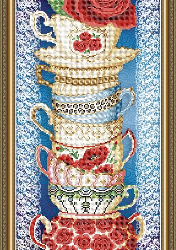 Вышивки бисером чашки