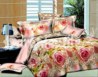 Семейное постельное белье Ranforce розовые розы