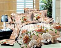 Семейное постельное белье Ранфорс с жемчугом и розами