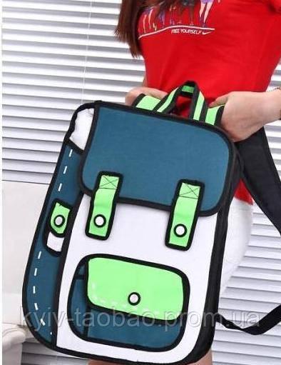 Рюкзак с 2D принтом зеленый