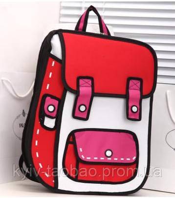 Рюкзак с 2D принтом красный