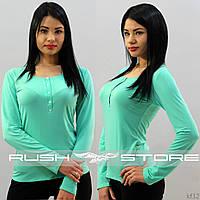 Женская кофта мятного цвета