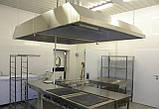 Зонт островной с жироулавливающими фильтрами из нержавеющей стали, фото 2