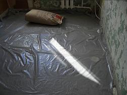 Пленка серая строительная для малярных и штукатурных работ, 3 м ширина, 200 мкм толщина, фото 2