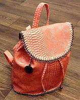 Рюкзак Stella McCartney под рептилию оранжевый