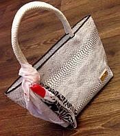 Сумка Valentino белая с серым