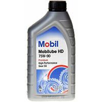 Масло трансмиссионное Mobil HD 75W-90 GL-5 1л