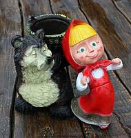 """Садовая фигура """"Маша и Медведь"""""""