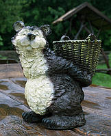 """Садова фігура """"Ведмідь з кошиком"""" Н-30см"""