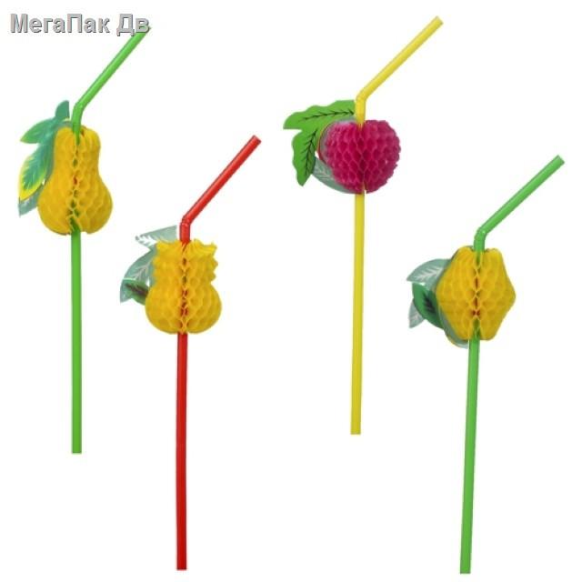 Соломка трубочка фрукты - 50 шт.