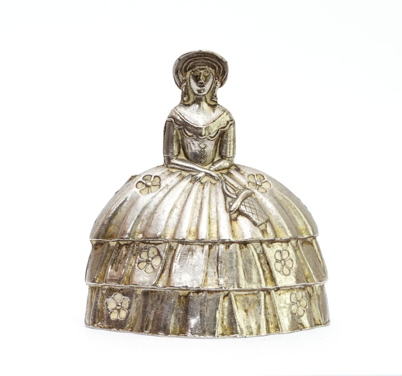 Колокольчик коллекционный, серебрение,  Англия