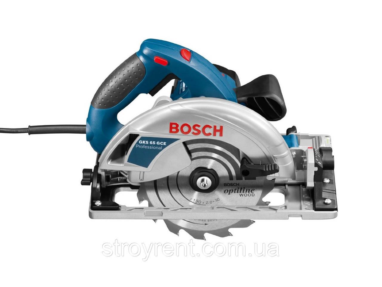 Пила дисковая Bosch GKS 65 GCE  - аренда, прокат