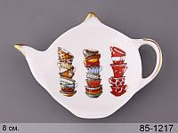 Фарфоровая подставка под чайные пакетики Для всей семьи 85-1217