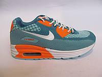 Кроссовки женские Nike Air Max сетка, бирюзовые (найк аир макс)(р.36,38,39)