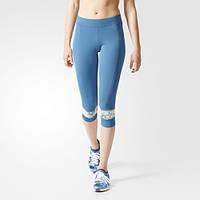 Укороченные леггинсы Adidas by Stella McCartney для бега climalite AI8443