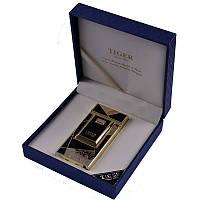 Электроимпульсная USB зажигалка TIGER №4676,зажигалки, без огня. с аккумулятором, без пламени, подарочная ,эле
