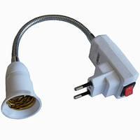 Вилка + кнопка + патрон Е27 Lemanso длина 10см / LMA751-10(LM751-10)