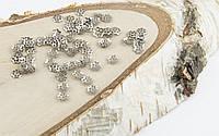 Обниматель под серебро Цветочек 6 мм 5 грамм прибл.220 шт(товар при заказе от 500грн)
