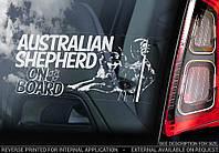 Австралийская овчарка (Australian Shepherd) стикер