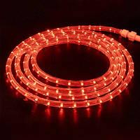 Дюралайт-лента LEMANSO 60SMD силикон красная 3528 220V / LM368