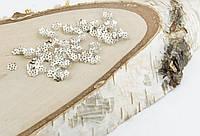 Обниматель под светлое серебро Цветочек 6 мм 5 грамм прибл.220 шт (товар при заказе от 200 грн)