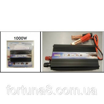Перетворювач напруги 12V-220V TBE 1000W Вт, фото 2