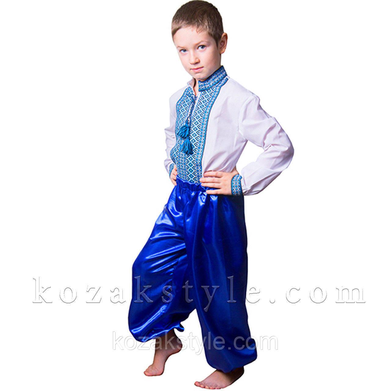 (Вишиванка ручної Костюм український для хлопчика синій ( від 5 по 8 років). 3f70fe99a2b1a