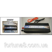 Перетворювач напруги 12V-220V TBE 2000W Вт